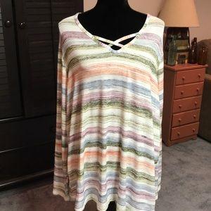 2X Sonoma striped sweater.
